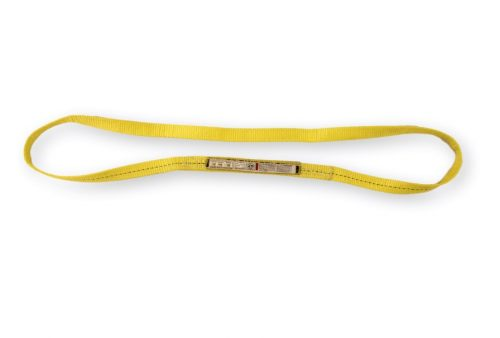 "EN1-901 1"" Endless Polyester Sling 1PLY single ply synthetic nylon polyester overhead lifting sling towing rigging"