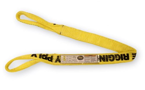 "2"" Eye & Eye Polyester Sling 2PLY EE2-902 Two Double Eye&Eye Synthetic Nylon Overhead Lifting Towing Rigging"