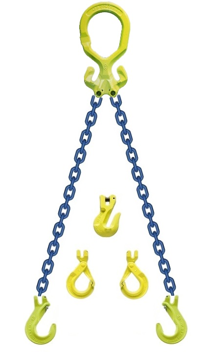 "2-Leg Chain Sling Gunnabo 1/2"" 3/8"" 5/16"""