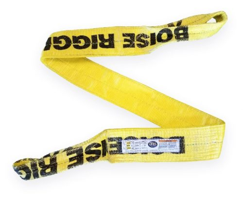 "EE2-904 4"" Eye & Eye Polyester Sling 2PLY Double ply synthetic nylon overhead lifting sling towing rigging"