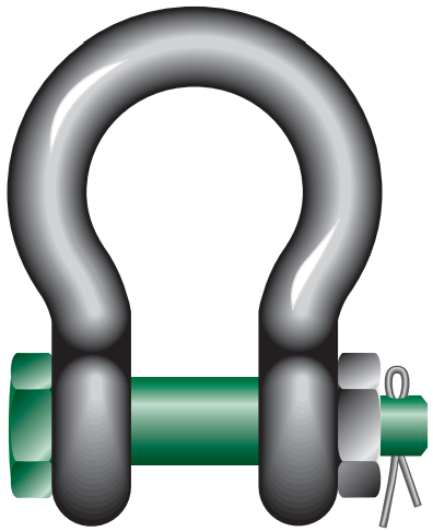VAN BEEST GREEN PIN BOLT TYPE SHACKLE